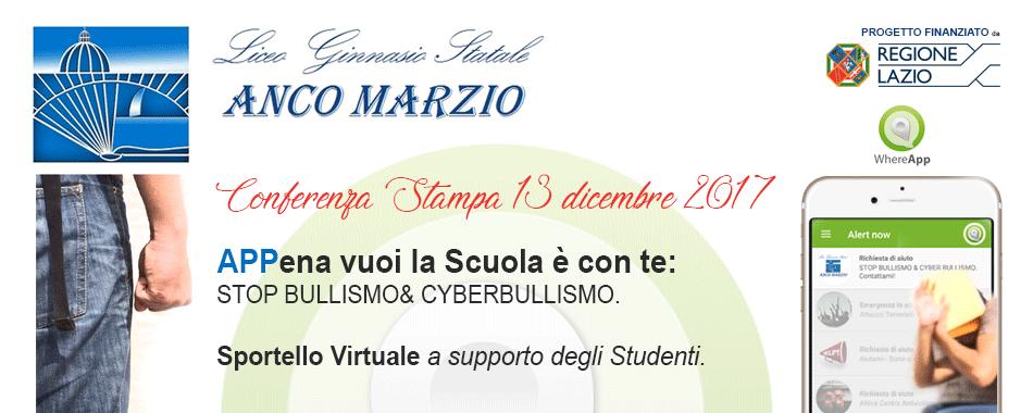 Evento AncoMarzio Bullismo e Cyberbullismo